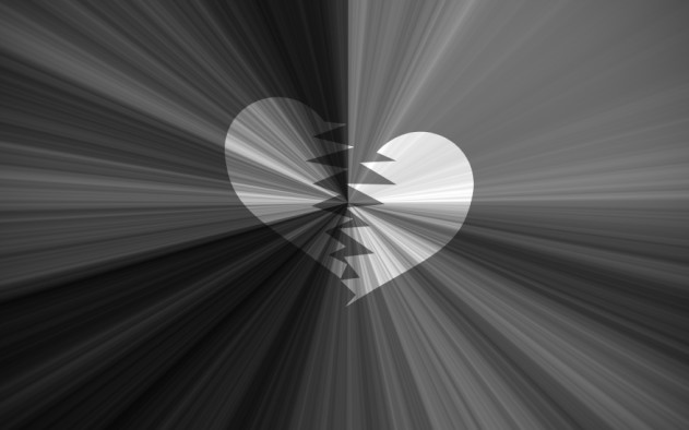 black valentine background, black and white starburst with heart