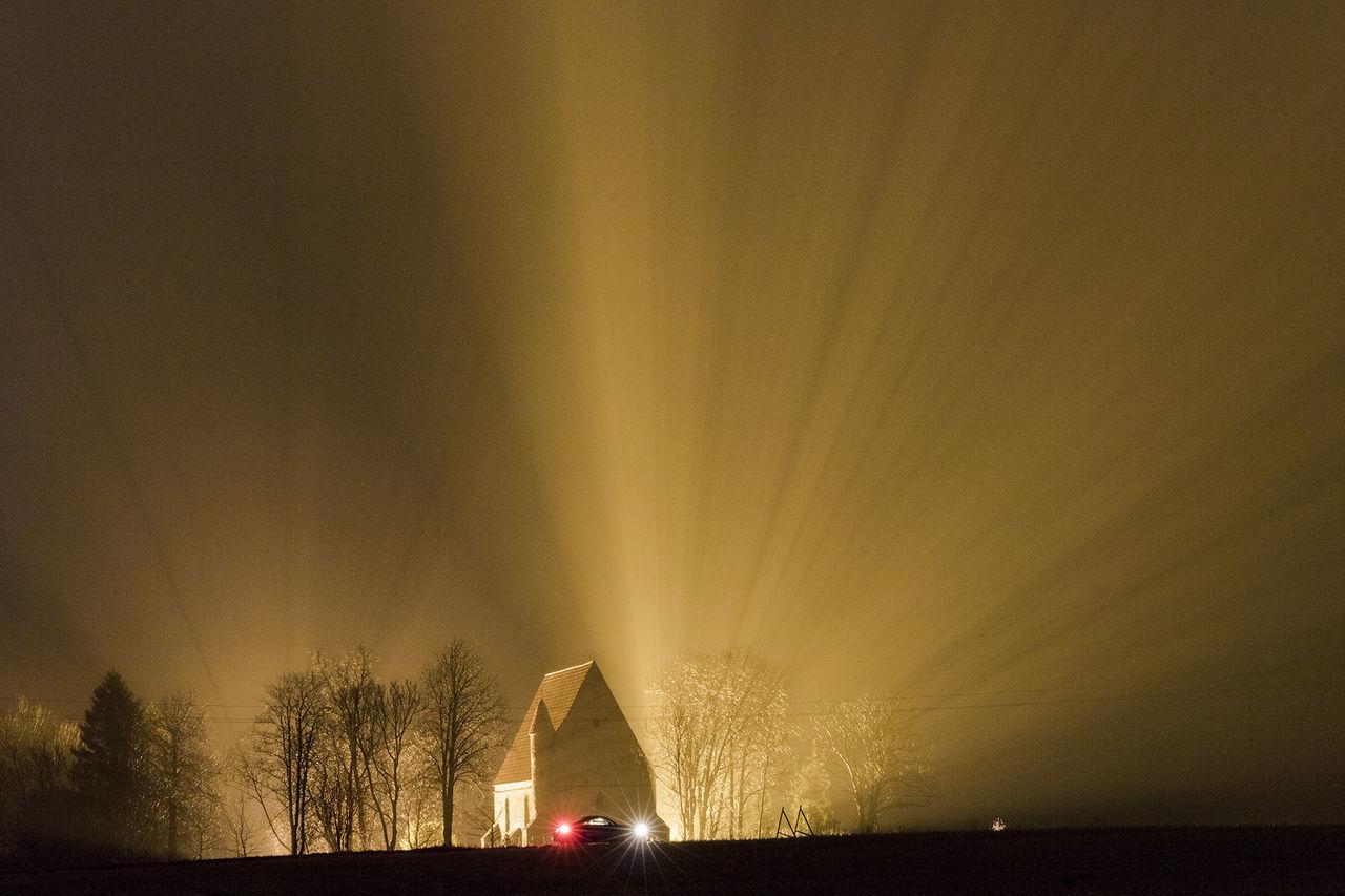 Church Light in Dark