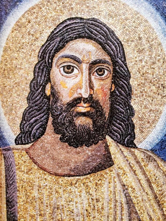 Jesus 6th century mosaic