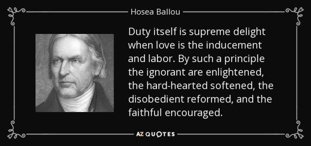Hosea Ballou quote