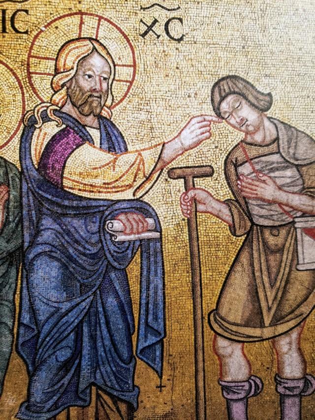Jesus healing - 13th century