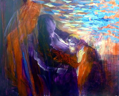 Isaac Blesses Jacob by Yoram Raanan