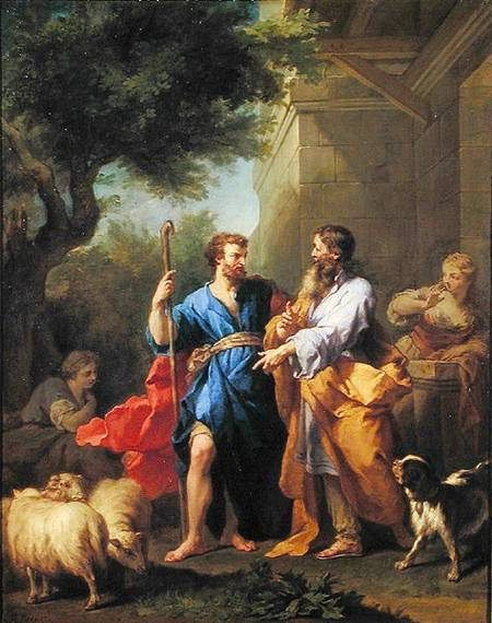 Jacob and Laban by Jean Restout