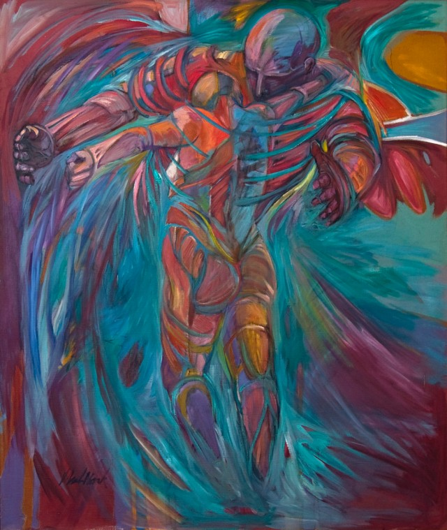 Jacob Wrestling the Angel by Karen Laub-Novak