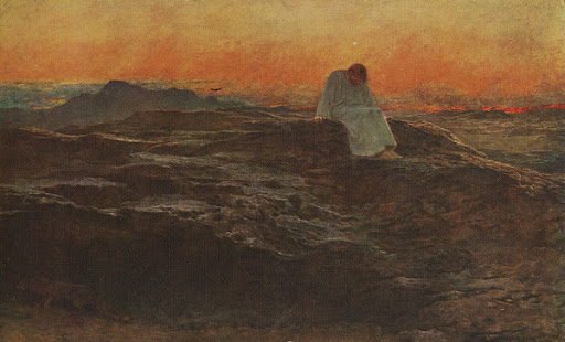 Temptation in the Wilderness by Briton Riviere 1912