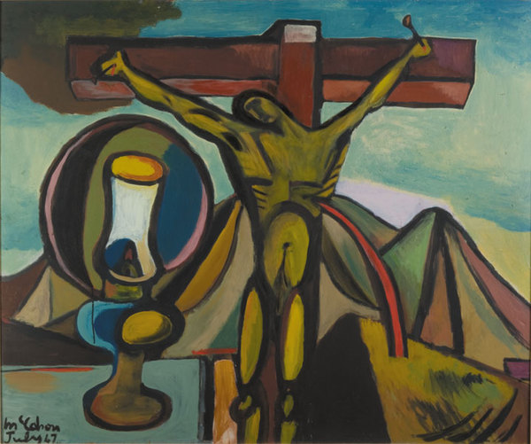 Crucifixion with Lamp by Colin McCahon 1947