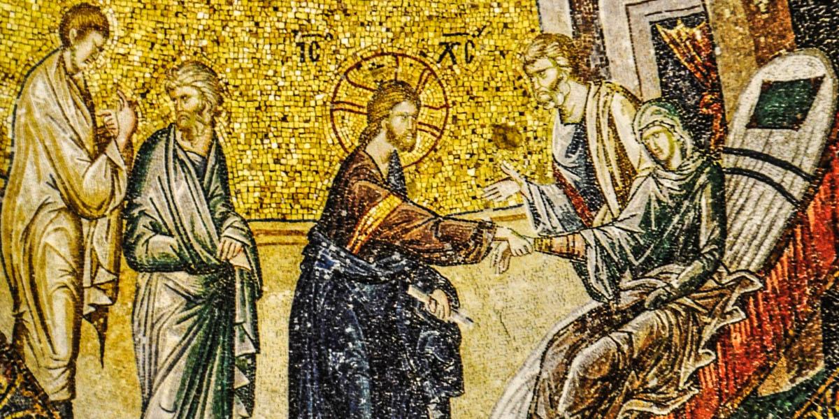 Jesus Heals Peters Mother In Law